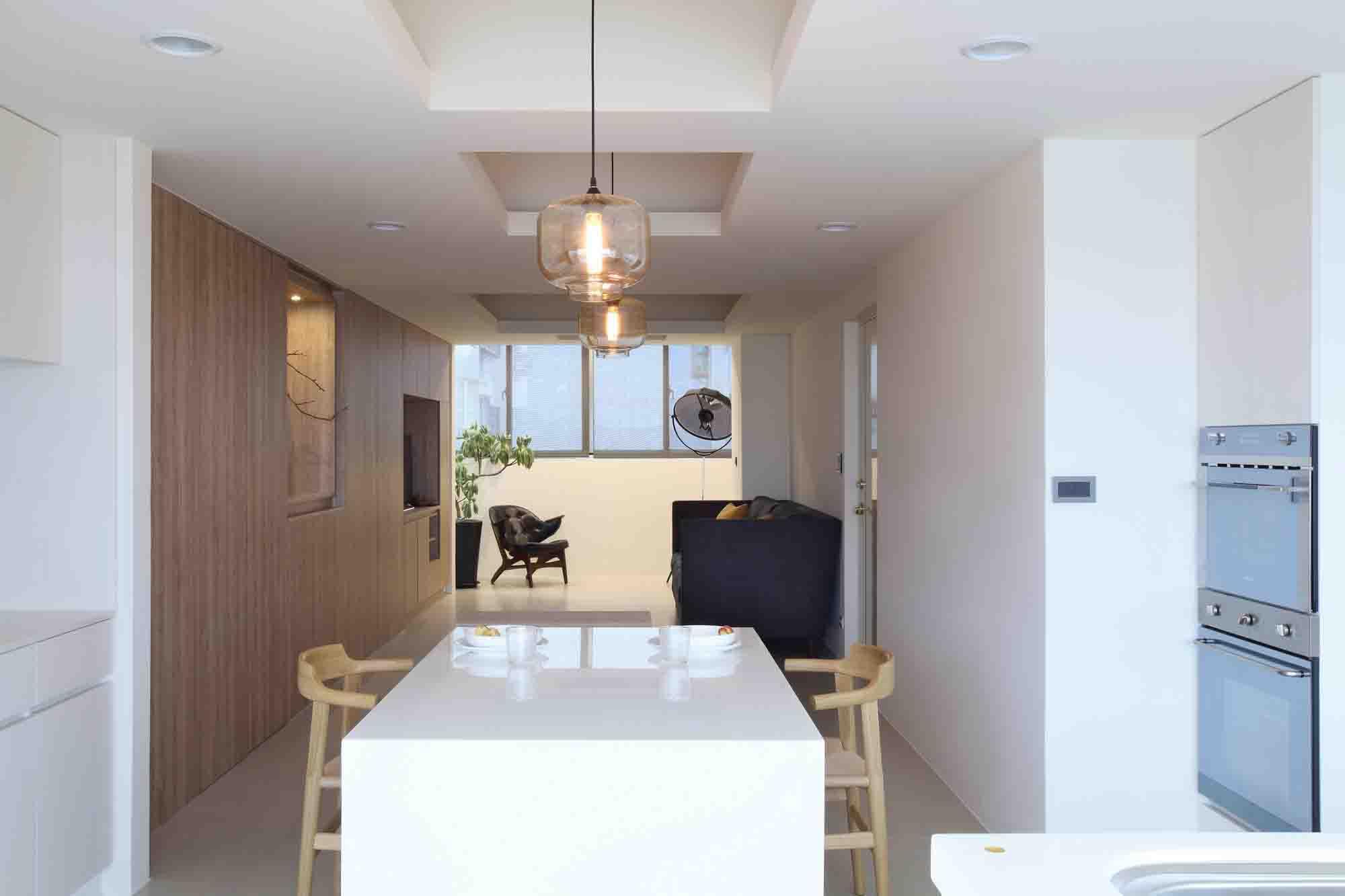 新房室內設計也太漂亮了,進門就被征服了!整個空間佈局簡約明了