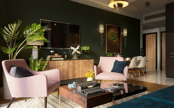 現在公寓和房屋的室內設計正在發展
