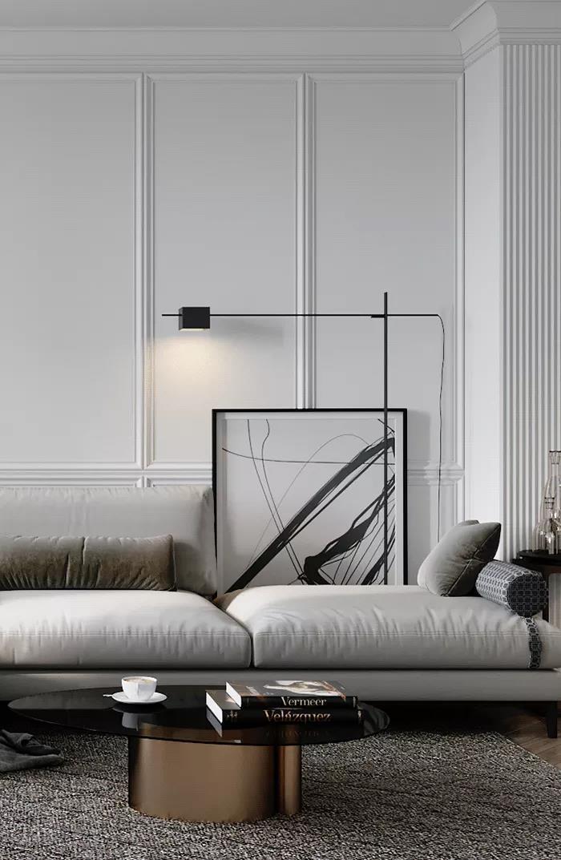 簡歐室內設計,拋去複雜讓生活更具氣質