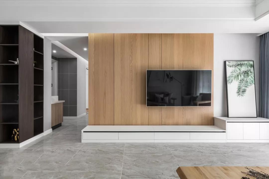 電視牆已經OUT了,有錢人的室內設計師都這麼處理電視牆!