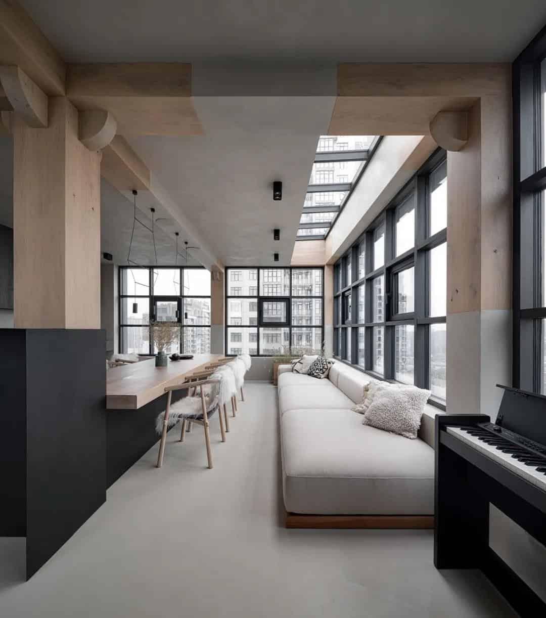 僅適用水泥、木料、金屬,卻打造了一座超時髦的豪宅室內設計