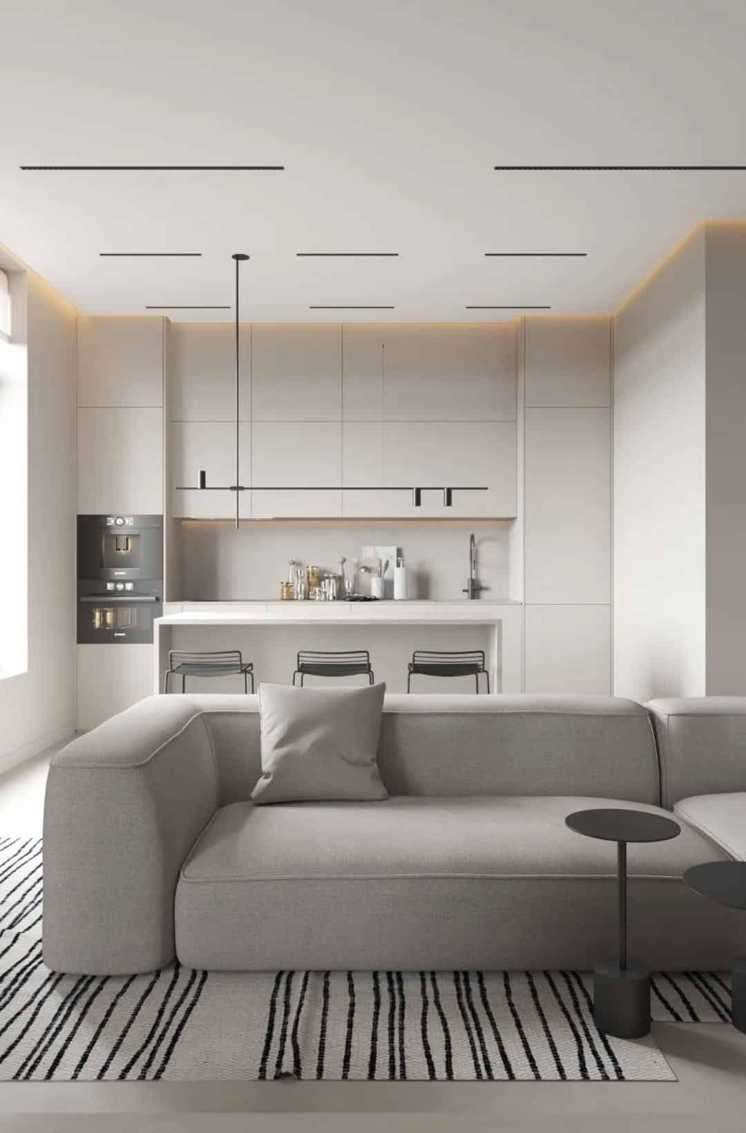 無色系室內設計,簡約質樸的空靈美