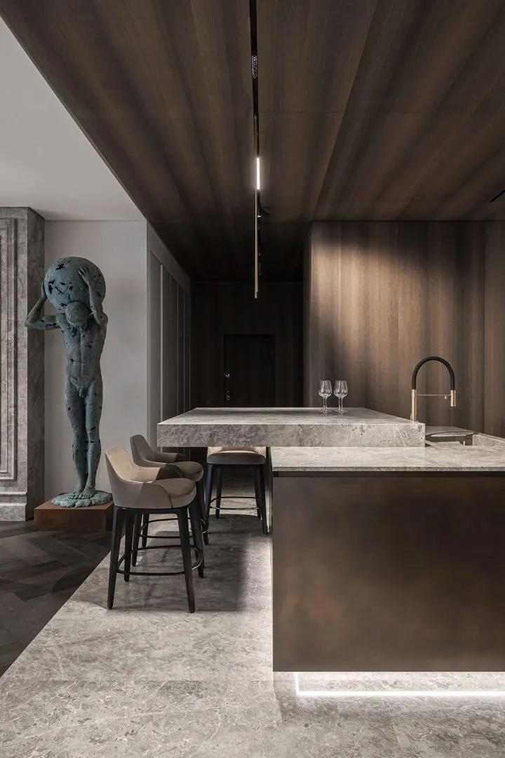 單身公寓室內設計,精緻沉穩的男性格調