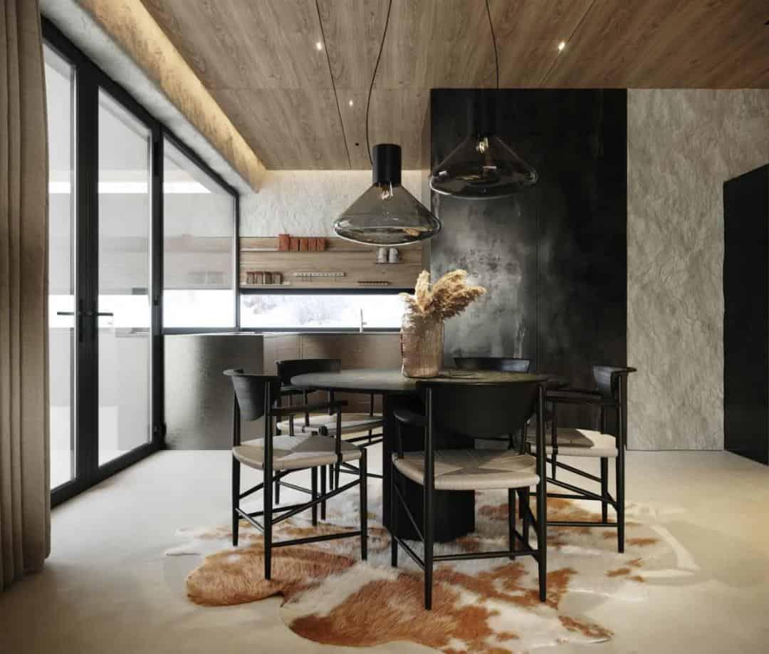 水泥系+高級黑,精緻的室內設計超有格調!