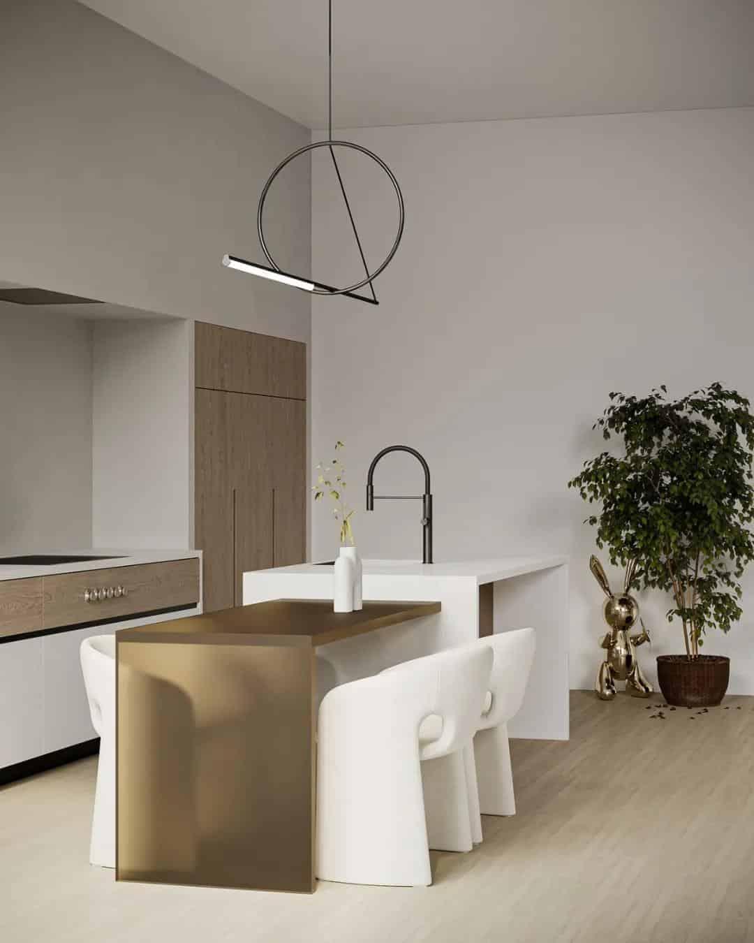 寧靜與溫馨的灰白素淨空間室內設計