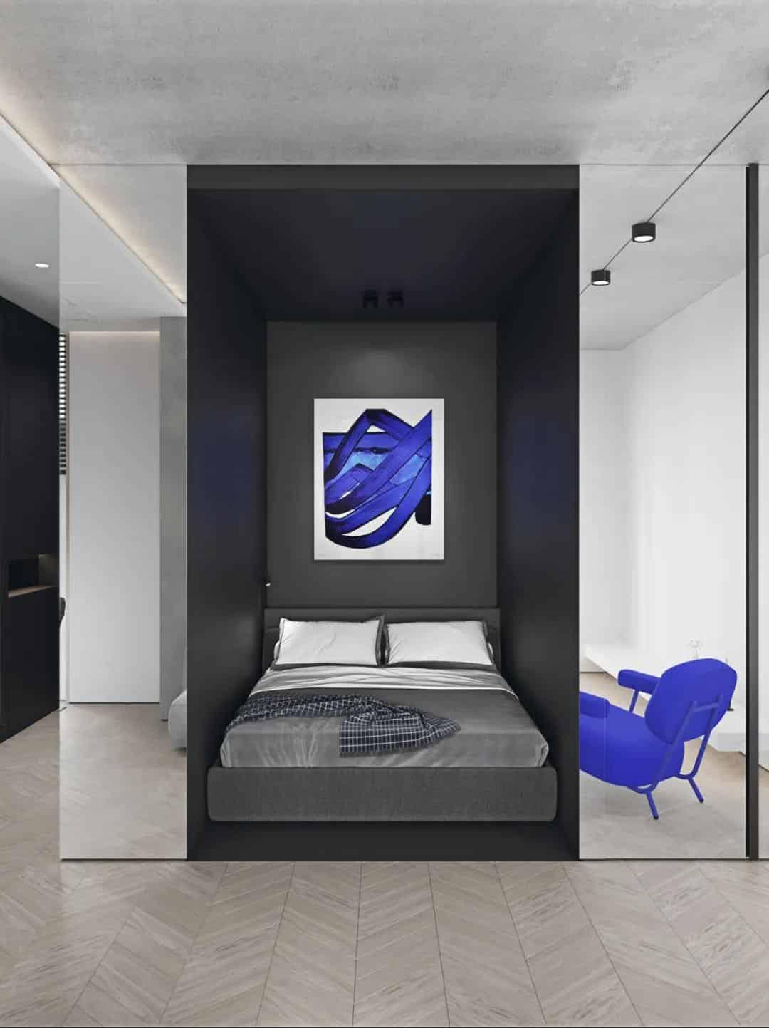 講究品質生活,充滿設計感的單身公寓室內設計!