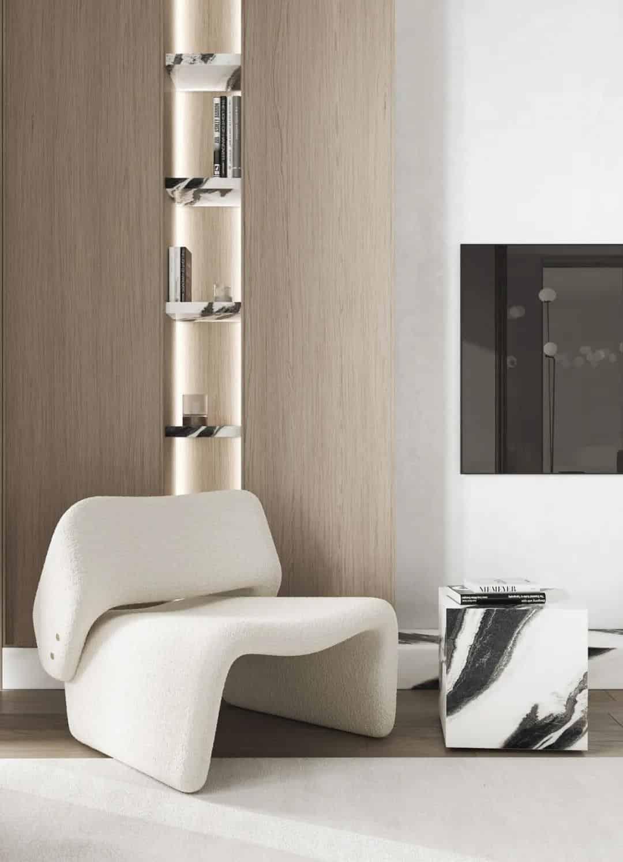 原木+白,簡約風氣質公寓室內設計