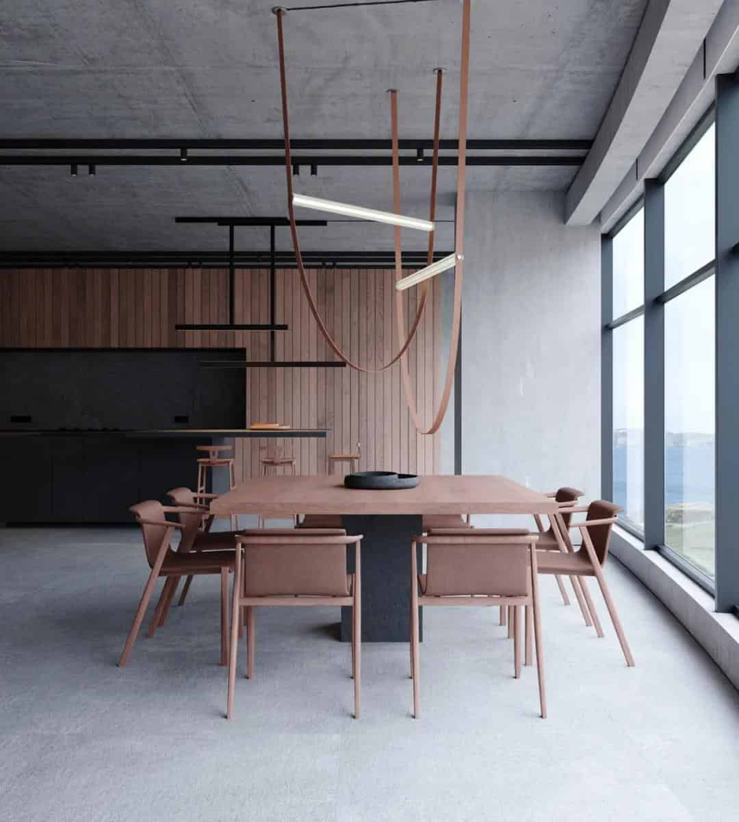 高級格調的灰色大平層室內設計!