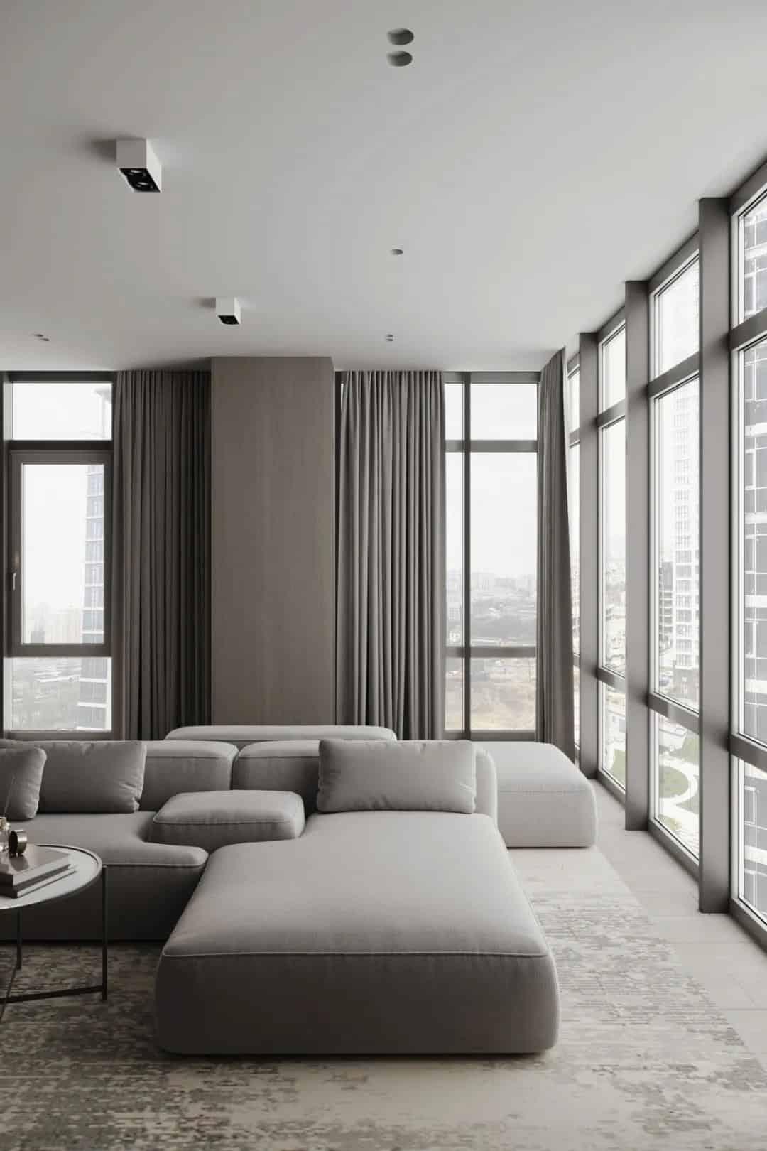 亞麻+淡褐色,細膩優雅的現代公寓室內設計!