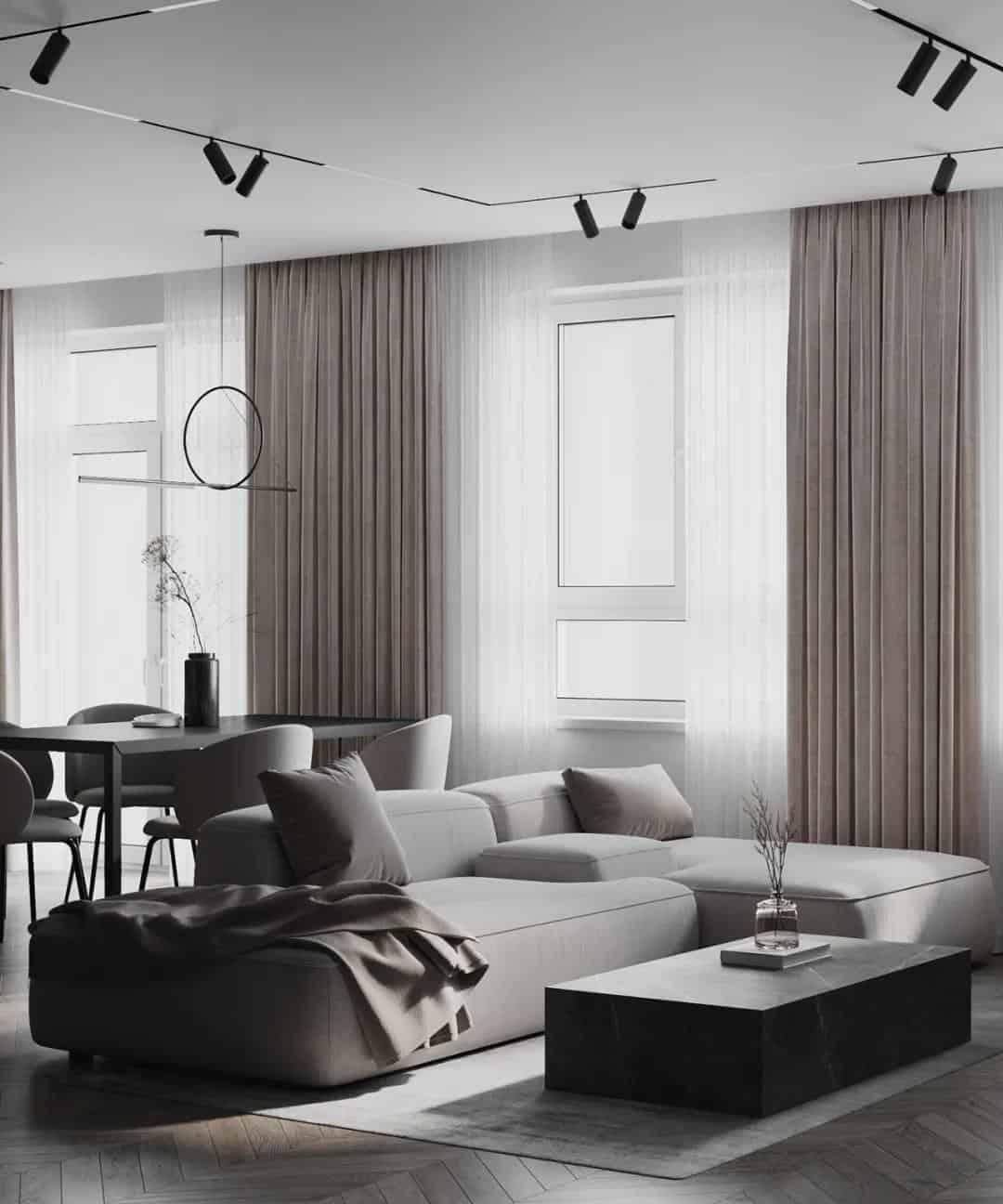 極簡高級灰室內設計,有質感的家!